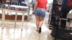 BBW PAWG in jean shorts asscalator