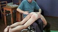 Skater girl stripped and shame spanked. Rare clip.