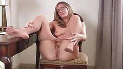 Rubbing in pantyhose