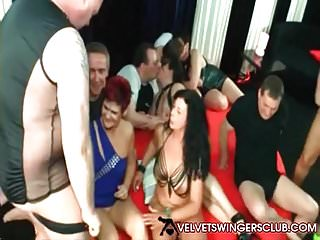 Velvet Swingers Club mature amateurs having wild party night