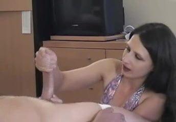 Handjob and post orgasm torture