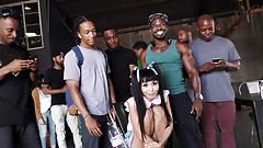 Asian Marica Hase Gives Blowjob 15 Horny Black Dudes