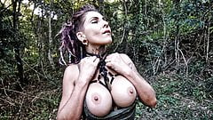 HOT BIG TITS TATTOOED BABE GIVES A BLOWJOB IN THE FOREST's Thumb