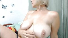 Blonde boob play