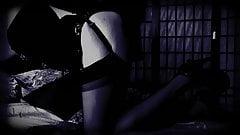 LADY IN BLACK  SEDUCTIVE  STOCKINGS