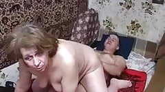 Plump sweet mom with flabby body & guy