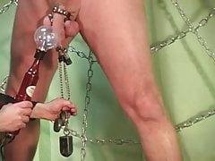 Estim hands free orgasm