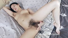 Bellavitana strips and masturbates in her bedroom