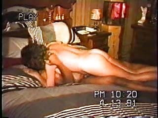 Hubby films wife riding black cock