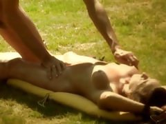 Oil massage and hot sex with friend