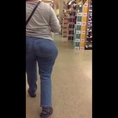Super WIDE Butt Grocery Store GILF (full video)