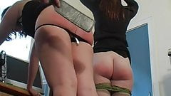 Milf Spanks Two Chubby Asses