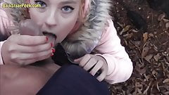 Cutest Teen Blonde Ever Public POV In Forest