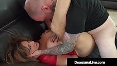 Milf Deauxma Captured & Pleasured By Ariella Ferrera & 2 Men