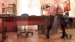 Secretary in boots