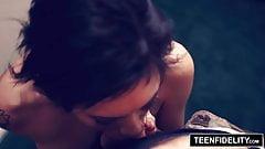 TEENFIDELITY Aubrey Luna Riding Cock for a Creampie