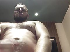 young str8 hairy man jerk off