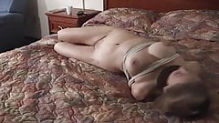 nude girl hogtied on bed's Thumb