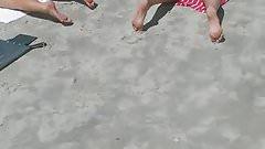 Candid nice Ass Milf on the beach