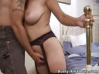 Busty amateur Serena Adam suck cock and getting fucked