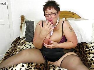 Frisky busty grandma squirting like a fountain