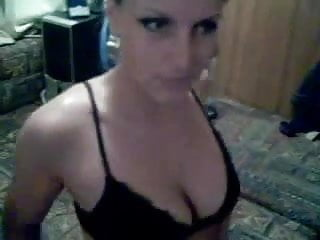 Sexy smoking Blonde giving BJ on homemade cam