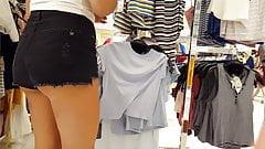 Candid voyeur creepshots hot teens shopping compilation