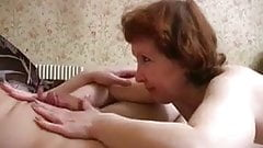 Convincing mommy into pantyhose sex