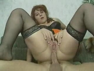 Saggy milf dp in garage