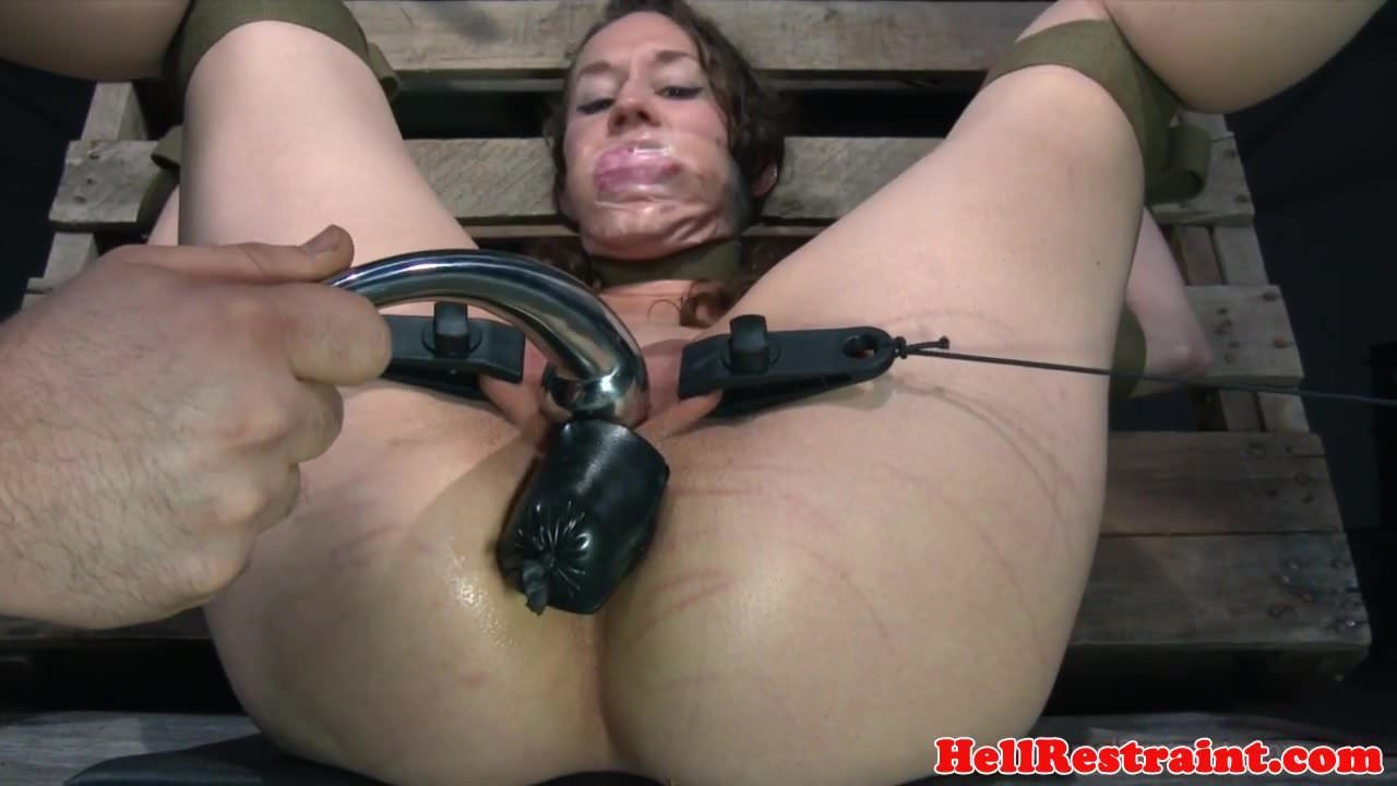 Bound bdsm sub canned and tied up 1