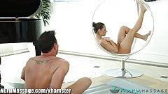 Nuru Cassidy Oils Up and Massages Older Guy