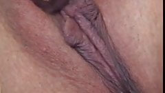 Seductive and slim Asian's tight pussy cracked open in the bedroom