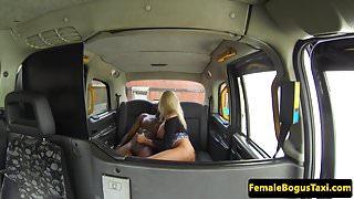 British cabbie cockriding black dick in taxi