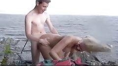 nordic blonde fetish sex in nature