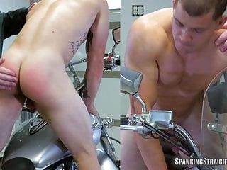 Wes' Motorcycle Spanking