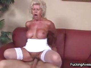 Cock-hungry Granny Effie Having Sex With A Young Guy