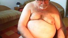 grandpa piss and cum on webcam