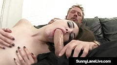 Cum Swappers Sunny Lane & Sasha Grey Love A Pulsating Penis!