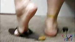 Mature Feet in Flip Flops