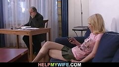 Old husband pays a stranger to nail her young wife