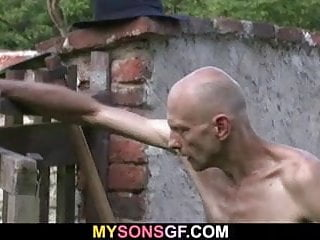Very Old Man Is Licking And Toying Her Young Cunt