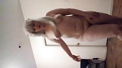 Sexy blonde nude
