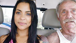 Nikki Kay Has Threesome Sex With Grandpas
