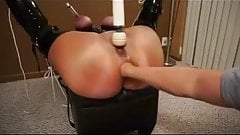 BBW Tied Up and Anally Fisted, Then Rides Buttplug