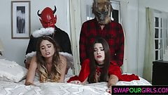 Foxy Teens Nailing With Stepdads