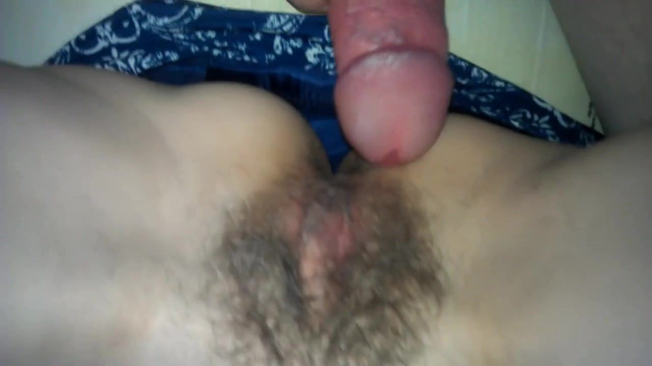 GF films BF fucking her hairy pussy