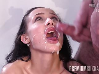 PremiumBukkake - Nicole Love swallows 66 big mouthful loads