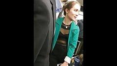 Cleavage Season #265 - transparent see through top girl