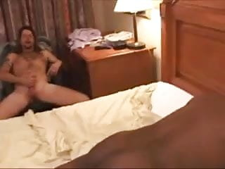 Cuckold Big black cock creampie