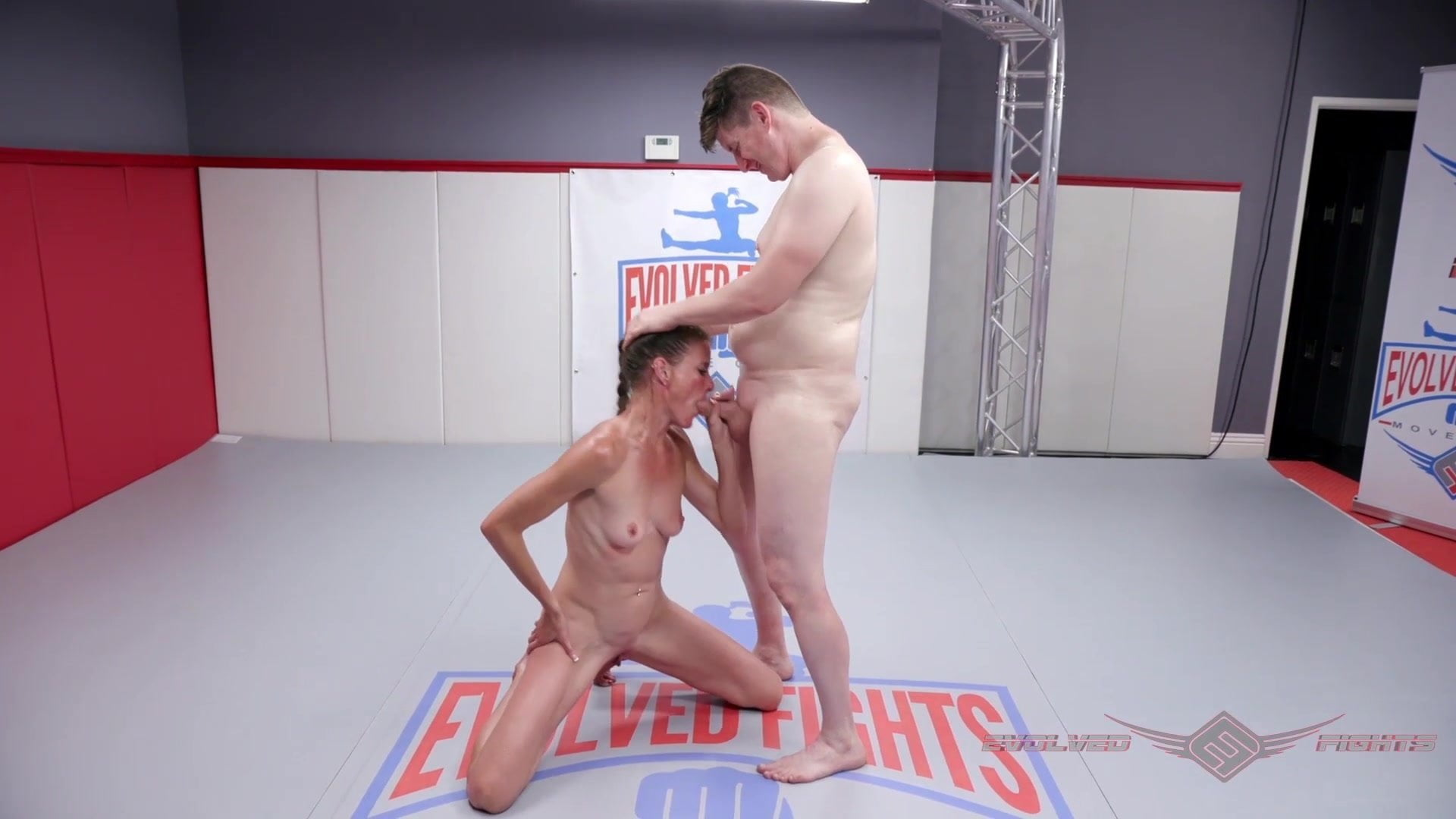 Topless Rough Naked Wrestling Gif